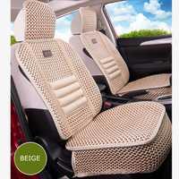 KKYSYELVA unids 1 ud. funda de asiento de coche Universal frontal de verano soporte Lumbar para la silla de Casa de oficina funda de cojín de asiento de seda