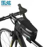 Bolsa de bicicleta ROSWHEEL accesorios de bicicleta accesorios de tubo para bicicleta negro mtb bolsas de ciclismo para smartphone serie de ataque impermeable completa