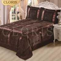 CLORIS Moscú Venta caliente 3 unids/set algodón acolchado colcha cubierta de cama colcha Vario Color para el regalo de boda