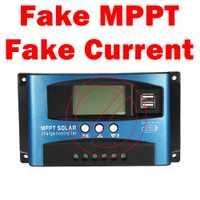 Por favor no compre este Solar MPPT controladores no es real MPPT y 100A controlador de carga Solar por favor hacer no ser engañado