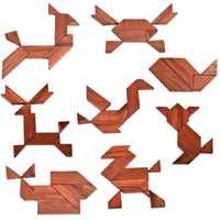 Juguete de rompecabezas Tangram de madera para bebé, juguete Montessori con forma geométrica, tablero de madera DIY para niños, juguete de Educación Temprana, regalo