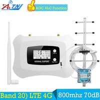 ATNJ 70dB banda 20 4G amplificador LTE 800 FDD Europa móvil de señal de teléfono celular amplificador de teléfono 4G lte 800 MHz repetidor