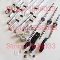 Riel lineal de guía de 3 husillos a bolas 1605 tornillos de bola BK12 BF12 + acoplamientos