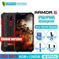 Ulefone Armure 6 Étanche IP68 NFC téléphone mobile robuste Helio P60 L'atco-core Android 8.1 6 GB + 128 GB Smartphone mondial version