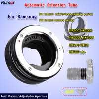 Lente Macro adaptador Viltrox DG-NX automática del tubo de extensión de enfoque automático para Samsung NX500 NX2000 NX3000 NX1000 NX210 lente Macro