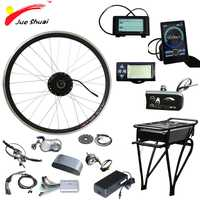 36 V 250 W 350 W 500 W bicicleta eléctrica Kit de bicicleta de Motor de rueda delantera 36 V 12AH batería Ebike E bicicleta Kit de conversión de elektrikli bisiklet