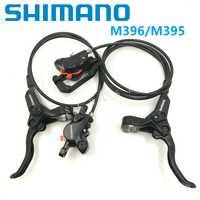 Bicicleta de freno de disco hidráulico SHIMANO BL/BR M396 M395 palancas de freno y pinza delantero trasero aceite de freno de bicicleta de montaña accesorios