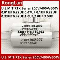 [SA] EE. UU. MIT RTX serie fiebre condensador 200 V/400 V/600 V 0,01, 0.022, 0,47, 0,1, 0,22, 0,33, 1, 2, 3, uf importados fiebre condensador. 5 unids/lote