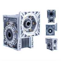 Envío Gratis NMRV030 57mm relación reductora de engranajes de gusano 5:1 a 80: 1 entrada 11mm eje para motor paso a paso NEMA23