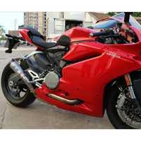 MOKALI aleación de titanio fugas de escape de carbono motocicleta para Ducati 959 escapes para Ducati echappement moto silenciador con tubo medio