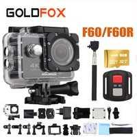 GOLDFOX F60/F60R 1080 P/60fps Cámara de Acción WIFI 4 K HD Cámara impermeable videocámara DV pro 16MP Cámara de Acción de 170 grados