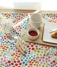Hogar-textil Lino algodón tela Floral parche Metro imprimir telas Lino algodón sofá telas tejido colcha costura 100x140 cm.