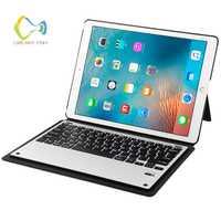 Cubierta para el caso favorable del IPad 12,9 Bluetooth 3,0 teclado de aluminio + PU estela del sueño para el Ipad Gadget Estuches a1670 A1584