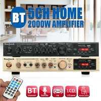 298B bluetooth 2.0 canaux 2000W 5 canaux amplificateur de puissance Audio 220V AV ampli haut-parleur avec télécommande prise en charge FM USB cartes SD
