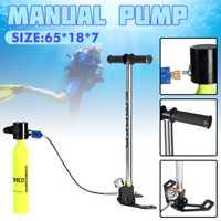 Bomba manual de 0,5 l para buceo, bomba manual de oxígeno, bomba manual para SMACO, accesorios de respiración submarina de repuesto