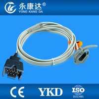 2 unids/lote Masimo recién nacido abrigo spo2 sensor de 9 pines cable de 1 m necesita cable de extensión