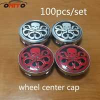 100 piezas 60mm centro de la rueda a prueba de polvo insignia de emblema del coche tapa para Hydra logo