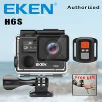 Cámara de acción Deportiva EKEN H6S Ultra HD 4 K WiFi EIS, estabilización de imagen electrónica ir impermeable 1080 P Pro deporte la cámara DV.