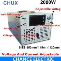 2000 W fuente de alimentación conmutada 0-12 V 24 V 27 V 36 V 48 V 50 V 60 V 70 V 80 V 90 V 100 V 110 V 220 V 300 V 400 V voltaje ajustable suministro