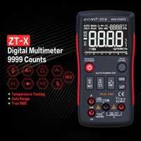 ZT-X multímetro Digital Mastech Transistor multimetro Tester rm esr medidor eléctrico True RMS 409b voltios amperios Ohm Tester multímetro