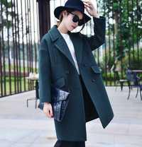 Abrigos de invierno volante acolchado grueso cálido capullo forma larga Casual de las mujeres abrigos de lana de gran tamaño 2XL gota venta