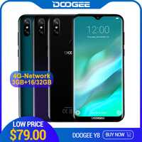 DOOGEE Y8 Android 9.0 FDD LTE 6.1 pouces 19:9 Waterdrop LTPS écran Smartphone MTK6739 3GB RAM 16GB ROM 3400mAh double SIM 8.0MP