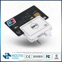 NFC de Jack de Audio de lector de tarjeta Magnética/teléfono móvil lector de tarjeta de crédito con SDK libre