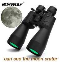 Borwolf 10-380X100 gran aumento zoom de largo alcance 10-60 veces telescopio de caza binoculares HD profesional Zoom