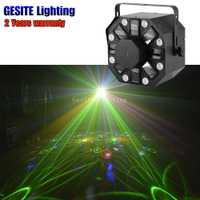 Estroboscópica láser flor LED 3in1 láser discoteca estrella luz estroboscópica etapa