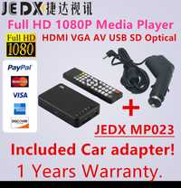MP023 reproductor multimedia mini Full HD 1080 p coche Media Player TV caja HDMI AV MKV RM USB SD SDHC MMC con adaptador de coche (boxchip F10)