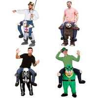 Novedad Ride on pantalones para adultos Caballero ropa Cosplay Oktoberfest Halloween maquillaje partido hombres mujeres trajes de equitación caballo diversión Juguetes