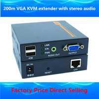 ZY-DT206CKM 660ft VGA KVM extender sobre IP 1080 P USB VGA vídeo extensor transmisor receptor con 3.5mm audio estéreo hasta 200 m