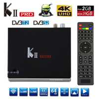 KII PRO Android TV caja de DVB-S2 DVB-T2 Amlogic S905D Quad Core K2 PRO RAM 2G ROM 16G 2,4 /5 GHz Dual Wifi BT4.0 Smart 4 K Set-top Box