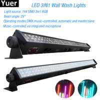 Nuevo Disco de luz RGB 3IN1 Led Luz de lavado de pared DMX Led DMX línea Bar lavado luz de la etapa para Dj disco de led luces de la barra