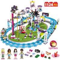 Ladrillos Compatible con LegoINGLY bloques Amigos Parque de Atracciones Montaña Rusa figura modelo juguetes Hobbie niños niñas
