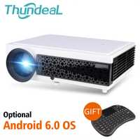 ThundeaL LED96 + 3D casa teatro opcional Android 6,0 WiFi LED96W LED96 + W proyector Full HD 1080 P video cine en casa