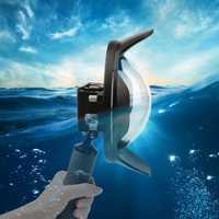 Funda de cúpula subacuática para Gopro Hero 7 6 5 Cámara de Acción negra con funda impermeable Go Pro 7 6 5 puerto domo de lente para Go Pro