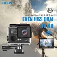Original EKEN H6S Ultra HD 4 k 30fps, cámara de acción con Ambarella A12 chip dentro de 30 m impermeable EIS ir cámara del deporte Cámara de pro cam dvr
