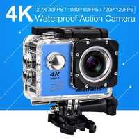 4 k 30PFS 16MP Cámara 4 K WIFI 2 pantalla LCD 1080 P 60PFS mini impermeable ir remoto Cam deportiva pro bajo el agua Cámara de Acción
