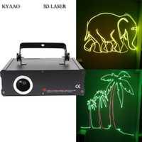 DJ láser tarjeta SD 500 mW RGB láser a todo color mostrar sistema de disco láser etapa iluminación