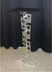 Alta calidad mágica aliminum mesa plegable de color plata, truco mágico, apoyos mágicos de la etapa, cerca de la magia, mentalismo, comedia