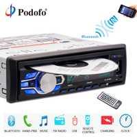 Podofo autoradio 12 V coche Radio Bluetooth 1 din coche estéreo de CD, reproductor de DVD, teléfono AUX-IN MP3 FM/USB/radio coche de control remoto de Audio