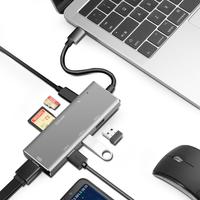 Tipo-c hub estación de acoplamiento 7 Puerto typeC expansión hdmi baja temperatura macbook accesorios usb