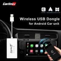 Carlinkit inalámbrico inteligente enlace Apple CarPlay Dongle para Android navegación jugador Mini USB Carplay Stick con Android Auto