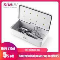 SUNUV 59 S esterilizador UV caja de belleza esterilizador herramientas caja de almacenamiento S2 portátil de desinfección de salón de uñas de arte