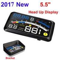 ActiSafety 2017 HUD Head up Voiture Projecteur Car Styling Lecteur Vitesse Auto-adaptatif De Voiture Carburant etc Paramètre D'affichage D'alarme système
