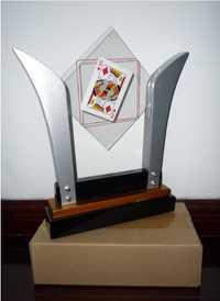 Envío Gratis tarjeta FISM en cristal/Marco de tarjeta de TV-magia de escenario de lujo/truco de magia, truco, mentalismo, truco de fiesta, diversión