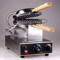 1PC 110/220V eléctrica Popular Waffle de huevo máquina de FY-6 de acero inoxidable Hong Kong Waffle de huevo parrilla máquina de waffles comercial