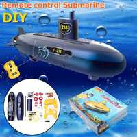 Divertido RC Mini submarino 6 canales Control remoto bajo el agua barco RC modelo niños juguete regalo para niños