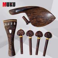 Partie violon 4/4 cornes bois motifs magnifiques sculpté poli haute qualité violon accessoires/ensemble